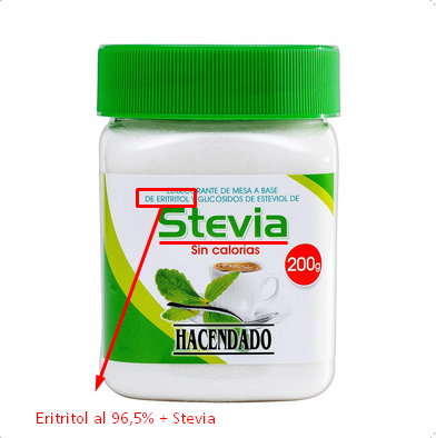 eritritol stevia